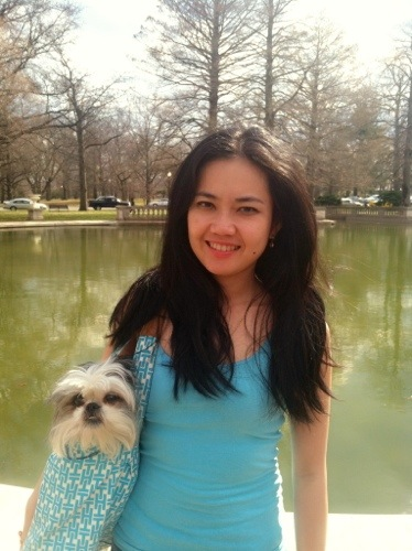 Shih tzu and owner